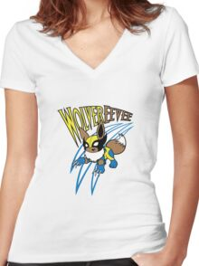 WolverEevee Women's Fitted V-Neck T-Shirt