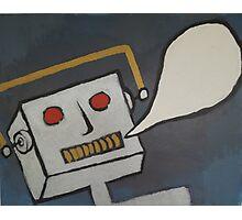 Speechless Robot Photographic Print