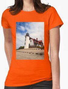 Lake Michigan Light House  Womens Fitted T-Shirt