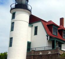 Lake Michigan Light House  Sticker