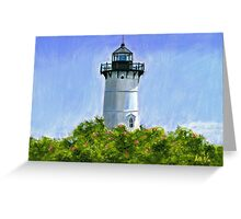 A New England Lighthouse Pastel Greeting Card