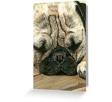 A Pugs Life Pastel Greeting Card