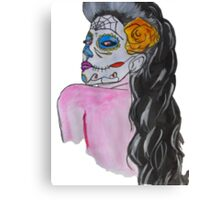 Vintage day of dead girl Canvas Print