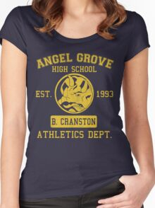 Angel Grove H.S. (Blue Ranger Edition) Women's Fitted Scoop T-Shirt