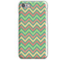 Colorful Pastel Retro Chevron Pattern Texture iPhone Case/Skin