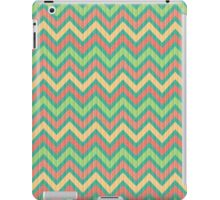 Colorful Pastel Retro Chevron Pattern Texture iPad Case/Skin