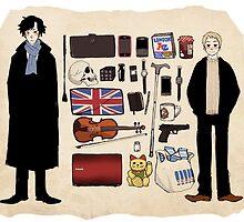 Sherlock related items. by Andrea Shipka