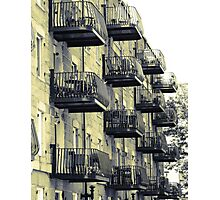 Boston Balconies Photographic Print