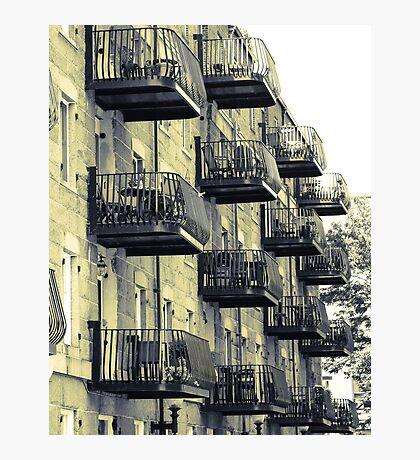 Boston Balconies Photographic Print