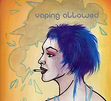 vaping allowed sign, e-cigarette sign by resonanteye