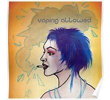 vaping allowed sign, e-cigarette sign Poster