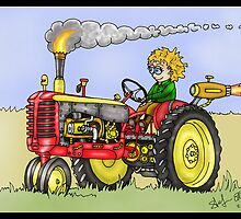 STEAMPUNK MASSEY HARRIS STYLE FARM TRACTOR by squigglemonkey