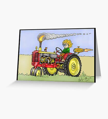 STEAMPUNK MASSEY HARRIS STYLE FARM TRACTOR Greeting Card