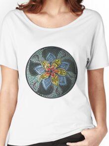 Zen Doodle #3 floral design Women's Relaxed Fit T-Shirt