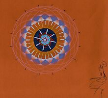 orange eye mandala, resonanteye by resonanteye