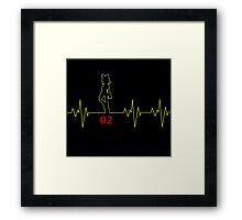 Heartbeat Rin Framed Print