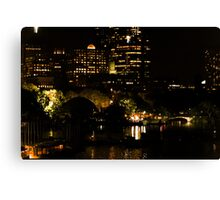 Boston Skyline at Night Canvas Print