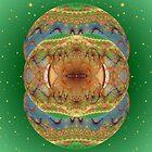 Tut66#6: Julian Ornaments on Sparkly Green (G1437) by barrowda