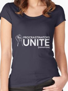 Procrastinators Unite Tomorrow Women's Fitted Scoop T-Shirt