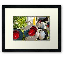 Railroad Signals Framed Print