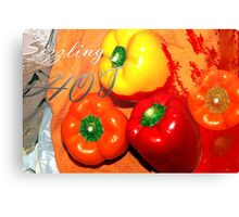 Sizzling Canvas Print