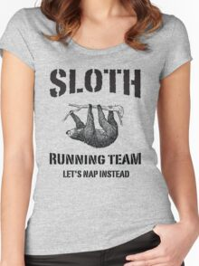 Sloth Running Team. Let's Nap Instead Women's Fitted Scoop T-Shirt
