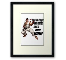 Ryu motivates Framed Print