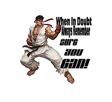 Ryu motivates Photographic Print