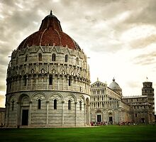 The Church and the Leaning Tower of Pisa by David J Baster