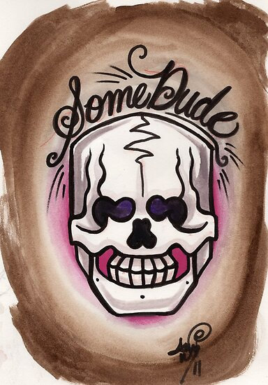 some dude's skull by resonanteye