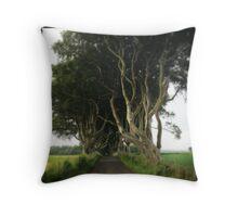 The Dark Hedges, County Antrim Throw Pillow