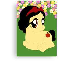 Pony Snow White Canvas Print