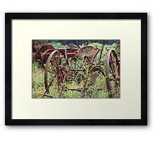 Rusty Farm Equipment  Framed Print