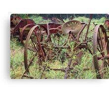 Rusty Farm Equipment  Canvas Print