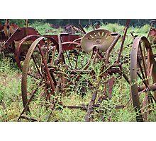 Rusty Farm Equipment  Photographic Print