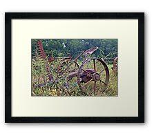 Farm equipment Abandoned Framed Print
