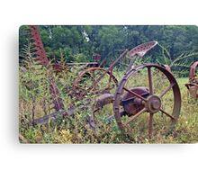 Farm equipment Abandoned Canvas Print