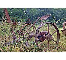 Farm equipment Abandoned Photographic Print