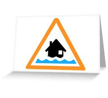 Flood Alert Symbol Greeting Card