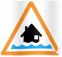 Flood Alert Symbol Poster