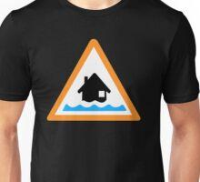 Flood Alert Symbol Unisex T-Shirt