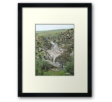 Looking Back! to the curve, Mannum Gorge, S.A. Framed Print
