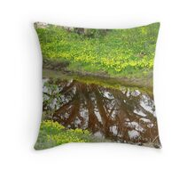 Gum Tree reflection at the start of Mannum Gorge. Throw Pillow