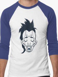GirlBot (blue) Men's Baseball ¾ T-Shirt