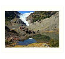 Glaciers and tarns Art Print