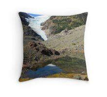 Glaciers and tarns Throw Pillow
