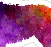 Picardy Sheepdog in watercolor Sticker