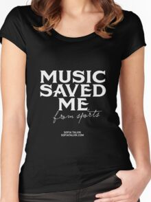 Music saved me from sports - white Women's Fitted Scoop T-Shirt