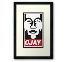 OBEY OJAY Framed Print