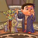 Two of a Kind...Jedi! (Digital illustration) by Amata415